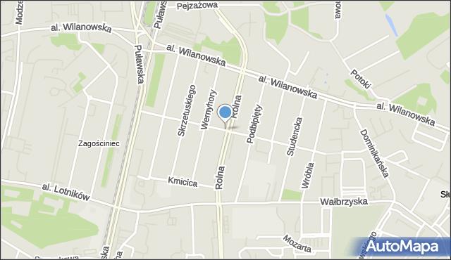 Warszawa, Niedźwiedzia, mapa Warszawy