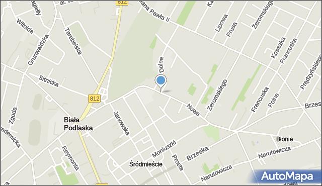 Biała Podlaska, Nowa, mapa Białej Podlaskiej