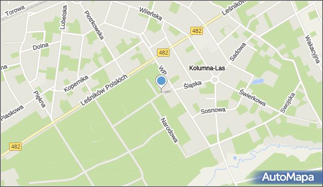 Łask, Nowa, mapa Łask