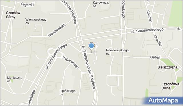 Lublin, Nowowiejskiego Feliksa, mapa Lublina