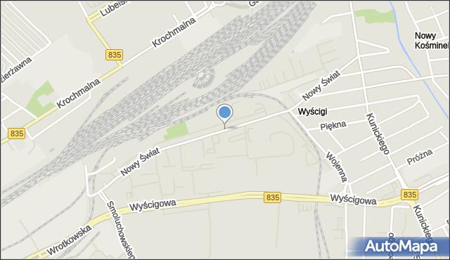 Lublin, Nowy Świat, mapa Lublina