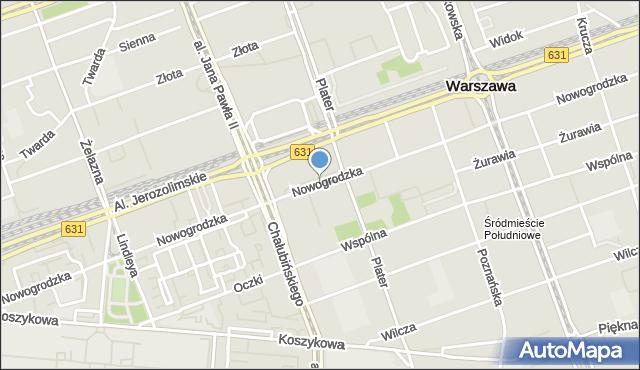 Warszawa, Nowogrodzka, mapa Warszawy