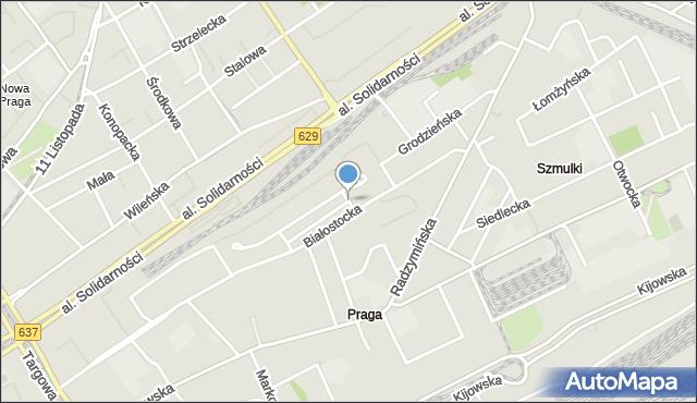 Warszawa, Nowolazurowa, mapa Warszawy
