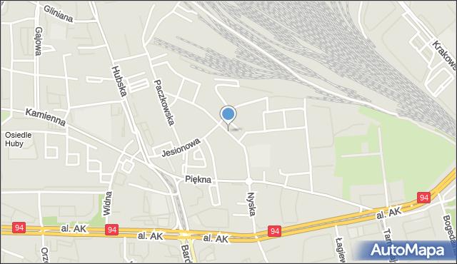Wrocław, Nyska, mapa Wrocławia
