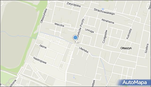 Wrocław, Obrońców Poczty Gdańskiej, mapa Wrocławia