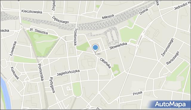 Wrocław, Ołbińska, mapa Wrocławia