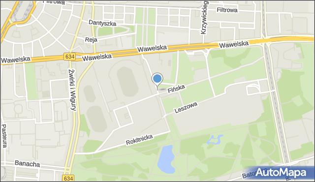 Warszawa, Ondraszka, mapa Warszawy