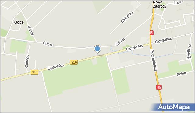 Racibórz, Opawska, mapa Racibórz
