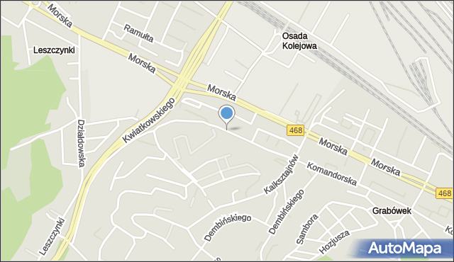Gdynia, Orlicz-Dreszera Gustawa, gen., mapa Gdyni