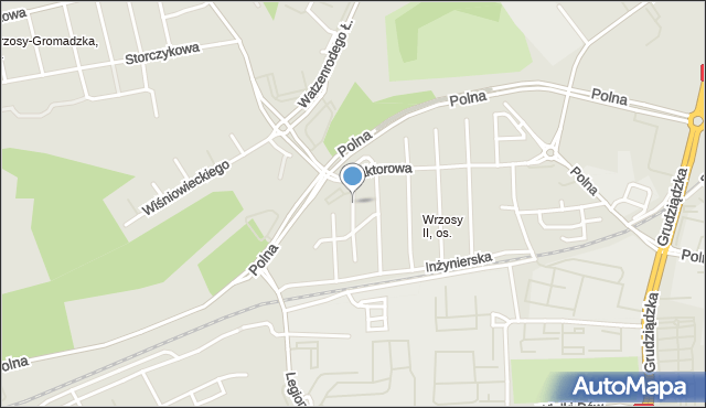 Toruń, Orląt Lwowskich, mapa Torunia