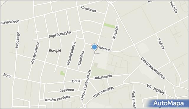 Warszawa, Orłów Piastowskich, mapa Warszawy