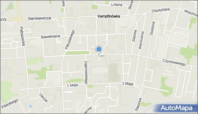 Bełchatów, Osiedle 1 Maja, mapa Bełchatów