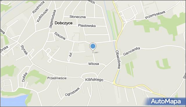Dobczyce, Osiedle Piastowskie, mapa Dobczyce