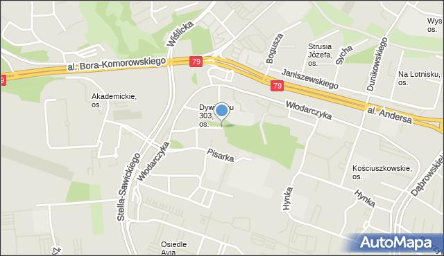 Kraków, Osiedle Dywizjonu 303, mapa Krakowa