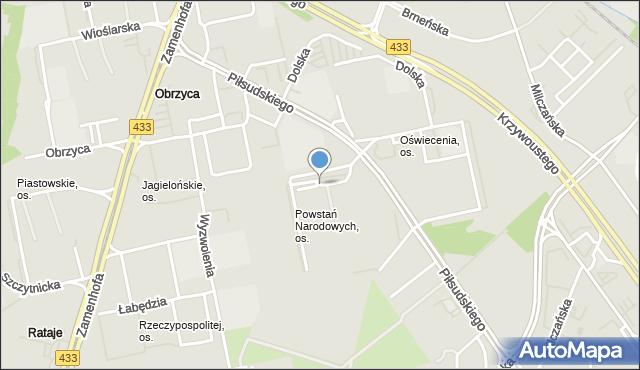 Poznań, Osiedle Powstań Narodowych, mapa Poznania