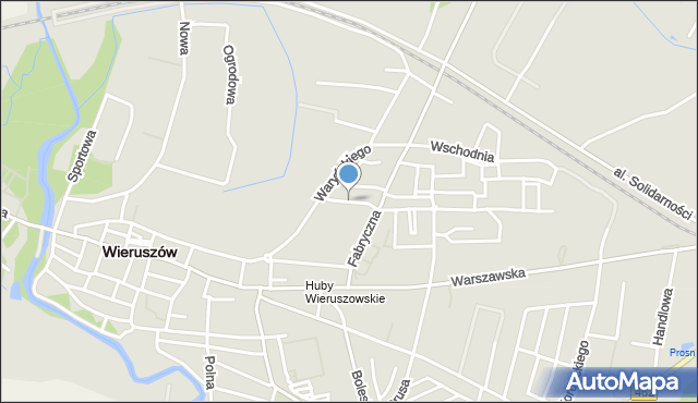 Wieruszów, Osiedlowa, mapa Wieruszów