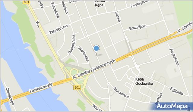 Warszawa, Paryska, mapa Warszawy