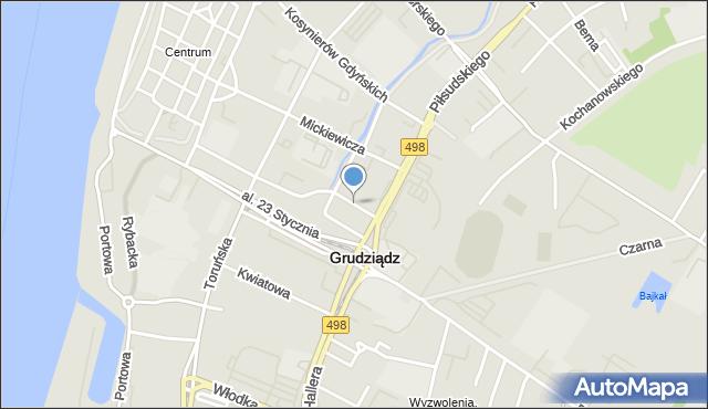 Mapa Polski Targeo, Grudziądz, PCK, mapa Grudziądza