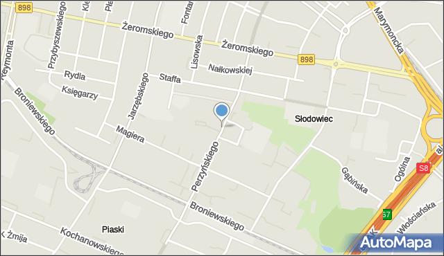 Warszawa, Perzyńskiego Włodzimierza, mapa Warszawy