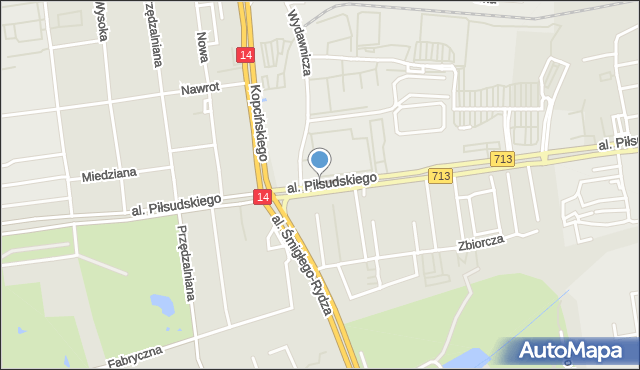Łódź, Piłsudskiego Józefa, marsz., al., mapa Łodzi