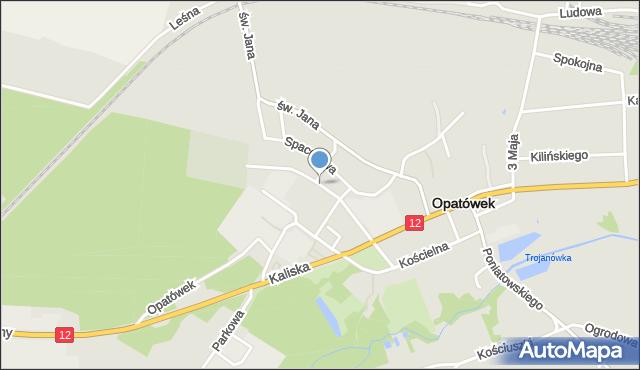 Opatówek, Piaskowa, mapa Opatówek