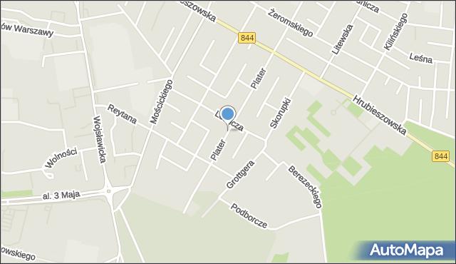 Chełm, Plater Emilii, mapa Chełma