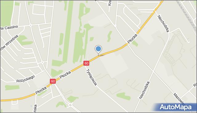 Ciechanów, Płocka, mapa Ciechanów