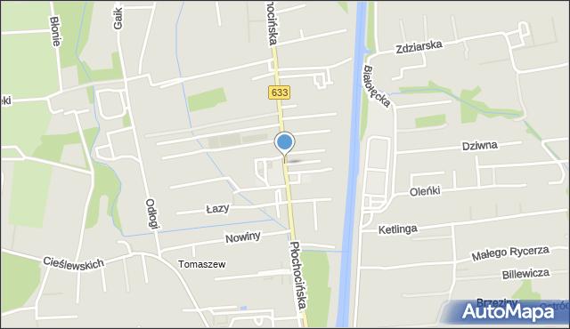 Warszawa, Płochocińska, mapa Warszawy
