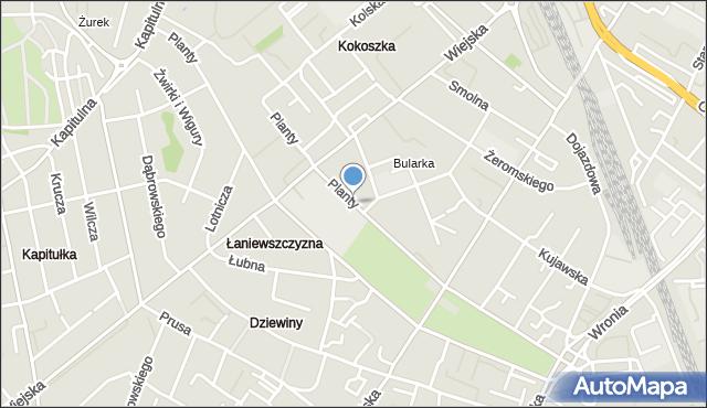 Włocławek, Planty, mapa Włocławka