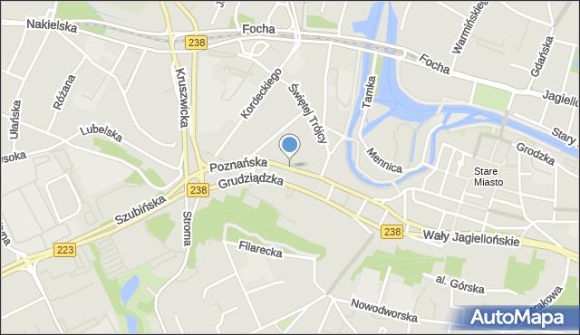 Bydgoszcz, Poznańska, mapa Bydgoszczy