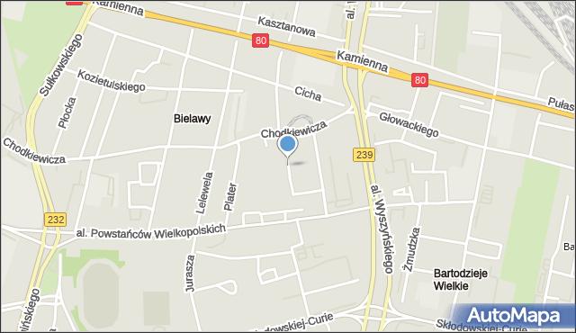 Bydgoszcz, Powstańców Śląskich, mapa Bydgoszczy