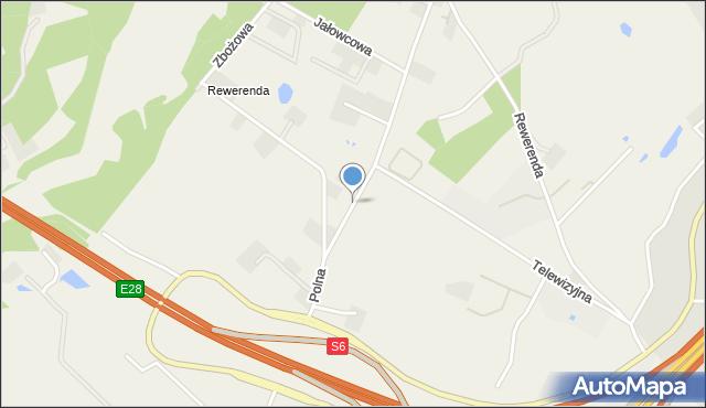 Chwaszczyno, Polna, mapa Chwaszczyno