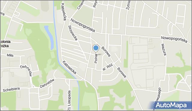 Czeladź, Polna, mapa Czeladź