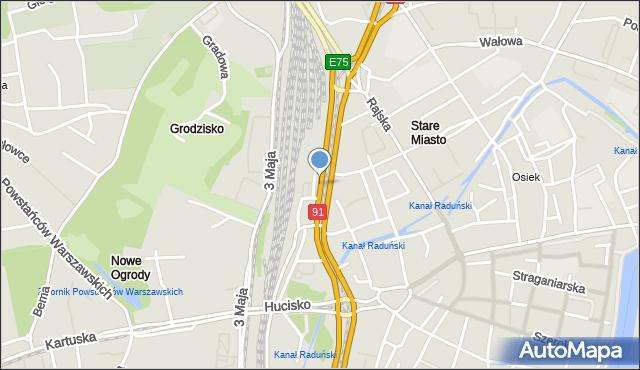 Gdańsk, Podwale Grodzkie, mapa Gdańska