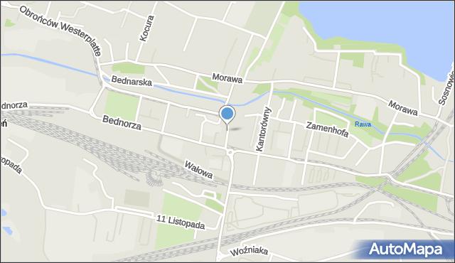 Katowice, Powstańców Śląskich, pl., mapa Katowic