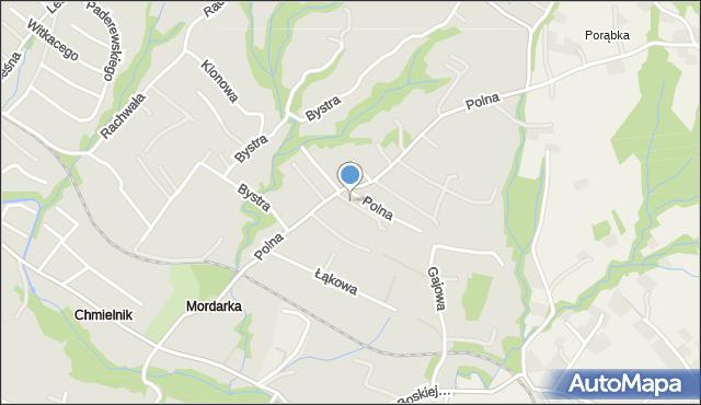 Limanowa, Polna, mapa Limanowa