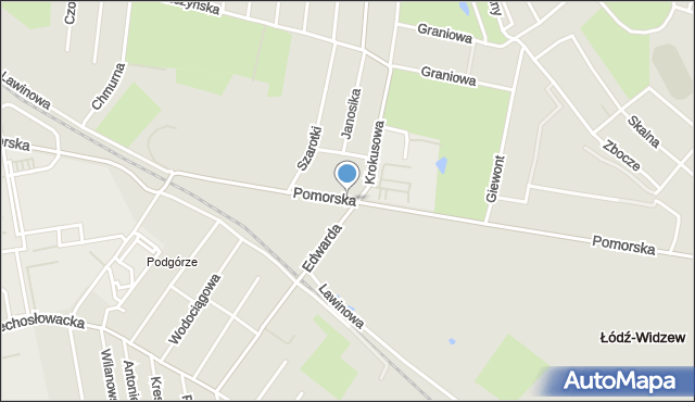 Łódź, Pomorska, mapa Łodzi