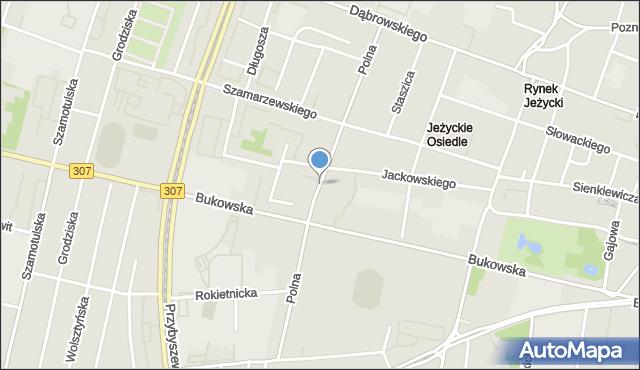 Poznań, Polna, mapa Poznania