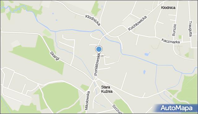 Ruda Śląska, Poniatowskiego Józefa, mapa Rudy Śląskiej
