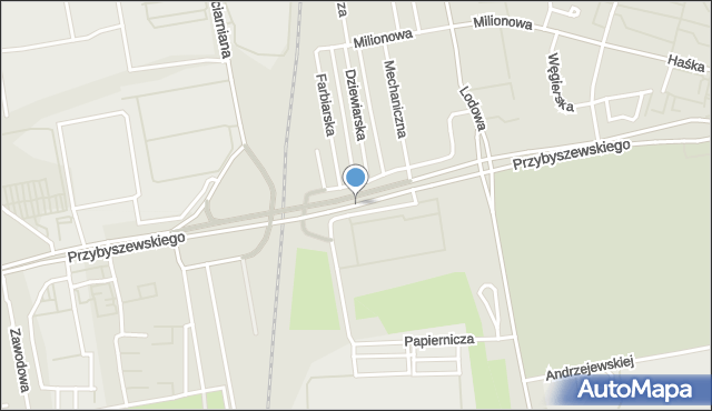 Łódź, Przybyszewskiego Stanisława, mapa Łodzi