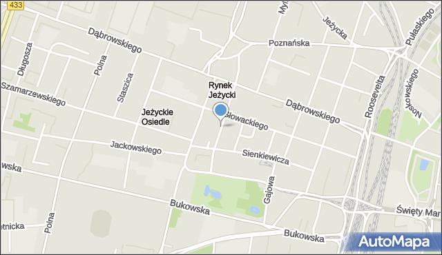 Poznań, Prusa Bolesława, mapa Poznania
