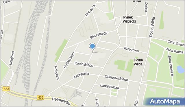 Poznań, Prądzyńskiego Ignacego, gen., mapa Poznania