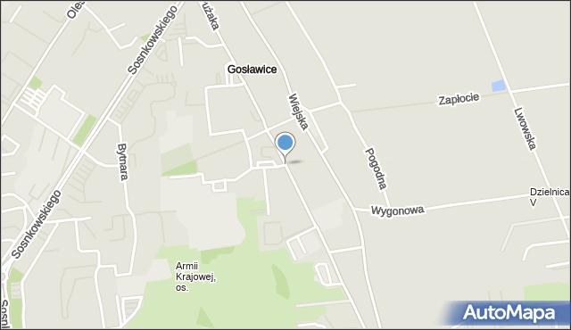 Opole, Pużaka Kazimierza, mapa Opola