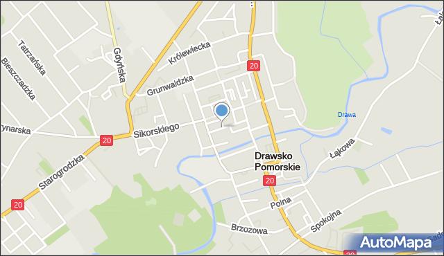 Drawsko Pomorskie, Ratuszowa, mapa Drawsko Pomorskie