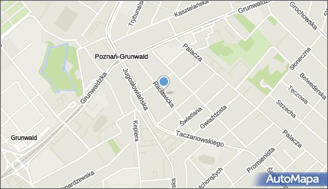 Poznań, Racławicka, mapa Poznania