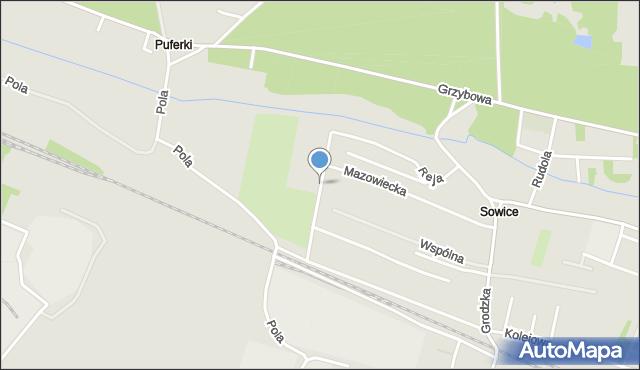 Tarnowskie Góry, Reja Mikołaja, mapa Tarnowskie Góry
