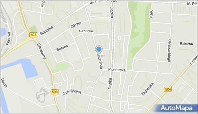 Elbląg, Robotnicza, mapa Elbląga