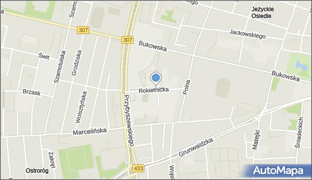 Poznań, Rokietnicka, mapa Poznania