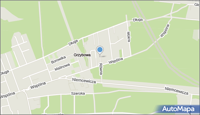 Warszawa, Równa, mapa Warszawy