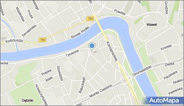 Kraków, Rynek Dębnicki, mapa Krakowa